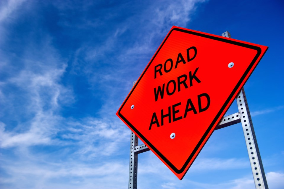 Road Work Ahead shutterstock