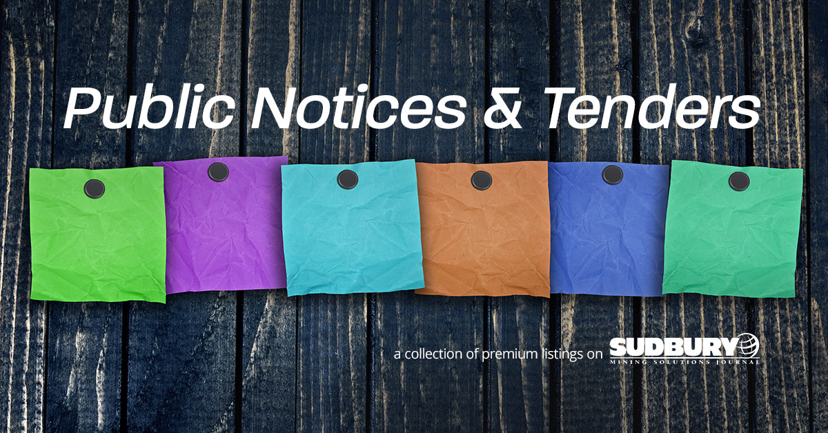 Public Notices & Tenders