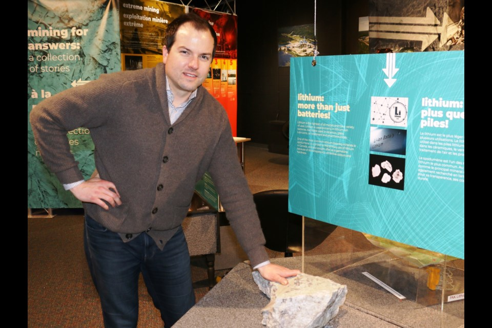 "Trevor Walker, the president and CEO of Frontier Lithium is expecting a productive year for the company's high grade ""Electric Avenue"" lithium property in Northwestern Ontario. Walker was able to show off some of Frontier's lithium samples earlier this year at a display at Sudbury's Dynamic Earth."