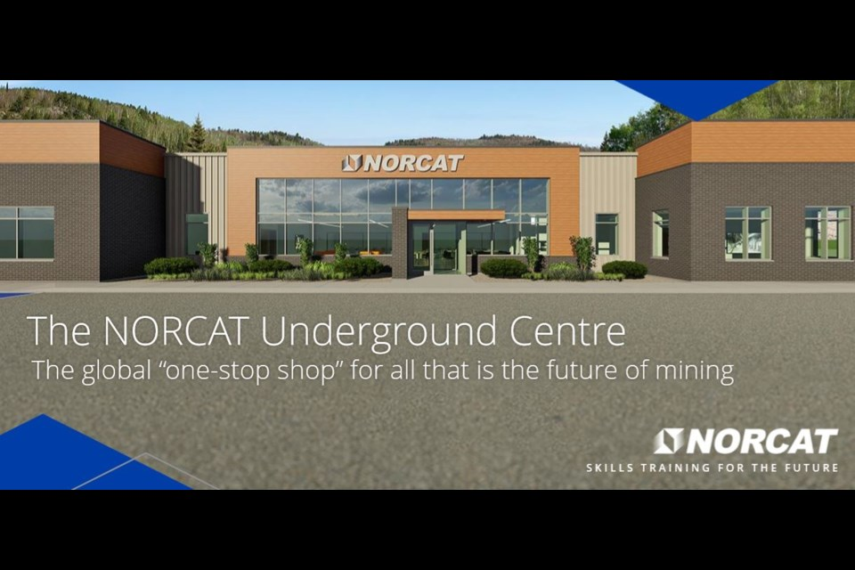 Work has been underway throughout the winter for the new NORCAT Underground Centre surface building located in Onaping, Ontario.  The building should be completed in May. (Photo: NORCAT)