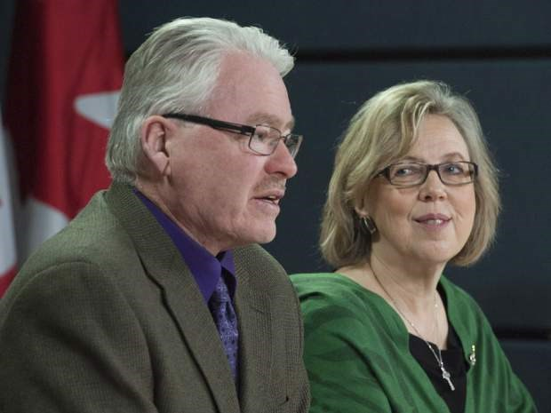Bruce Hyer was a mainstay with the Green Part, here pictured with former leader Elizabeth May.