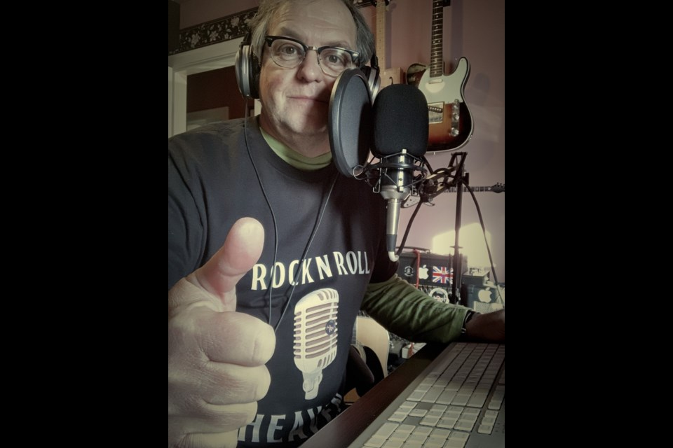 Brian Tremblay, host of Borderline Radio's Rock and Roll Heaven show.
