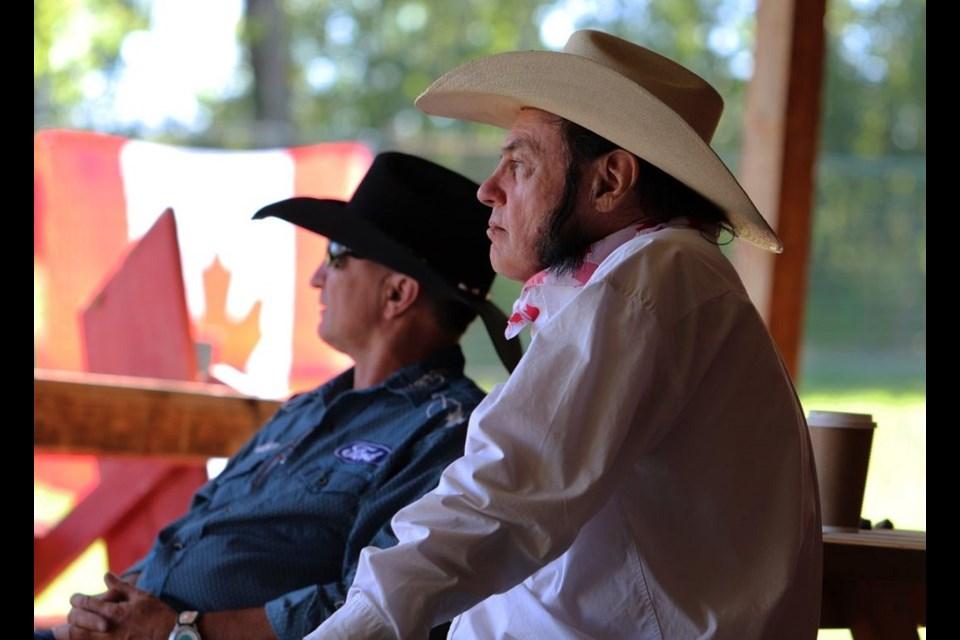 Joe Mattalo with his friend and Alberta music legend Ivan Daines.
