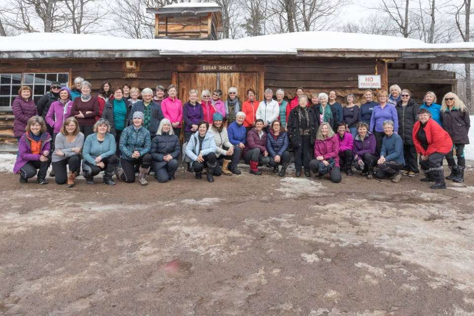 The 1000th hike celebration for Tuesday Hikers  was held March 3, 2020 at the Sault Ste. Marie Conservation Authorities Sugar Shack on Fifth Line. Violet Aubertin for SooToday
