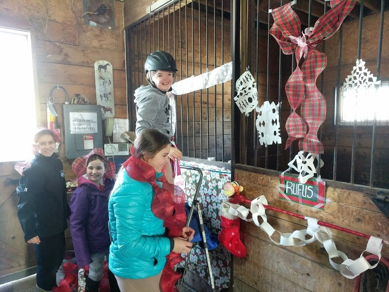 Strathclair Farm hosts their Christmas fun show for students and boarders complete with a stall decorating contest