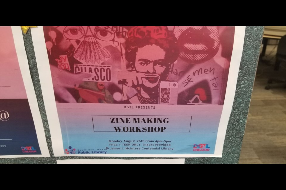 Digital Creator North hosts a Zine making workshop for youth Monday at the library which focuses on giving youth a creative communication tool