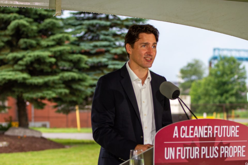 Prime Minister Justin Trudeau was in Sault Ste. Marie for a $420 million funding announcement at Algoma Steel on Monday, July 5, 2021. Donna Hopper/SooToday