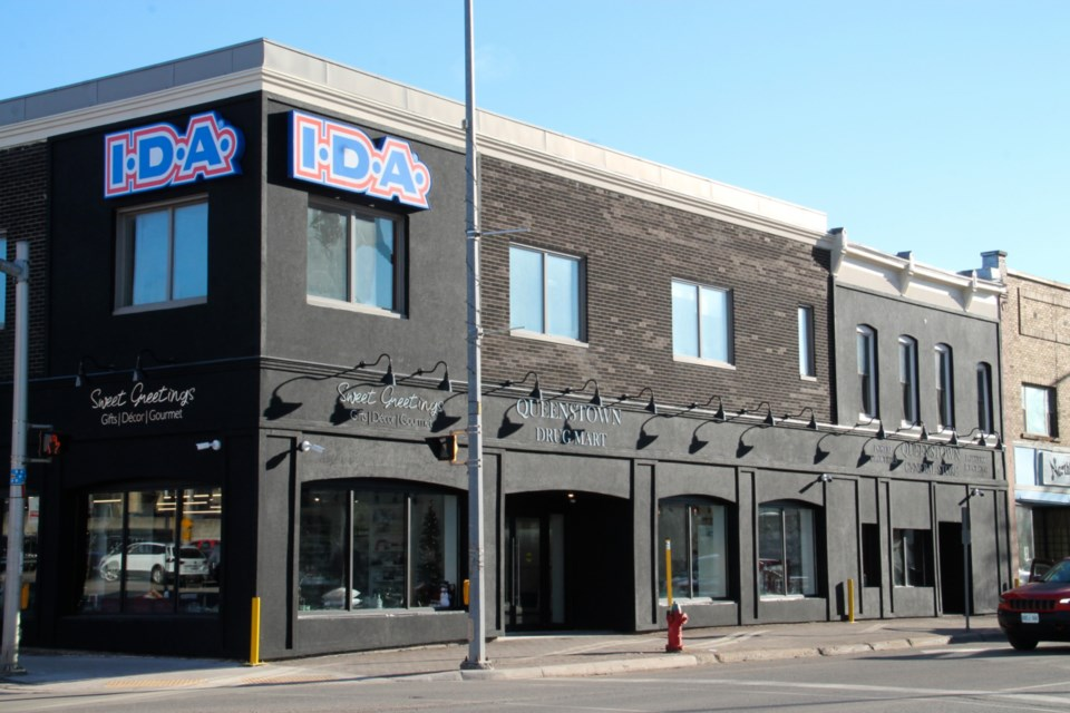 The new IDA Drug Mart location at the corner of Queen and Bruce Streets, Dec. 5, 2020. Darren Taylor/SooToday