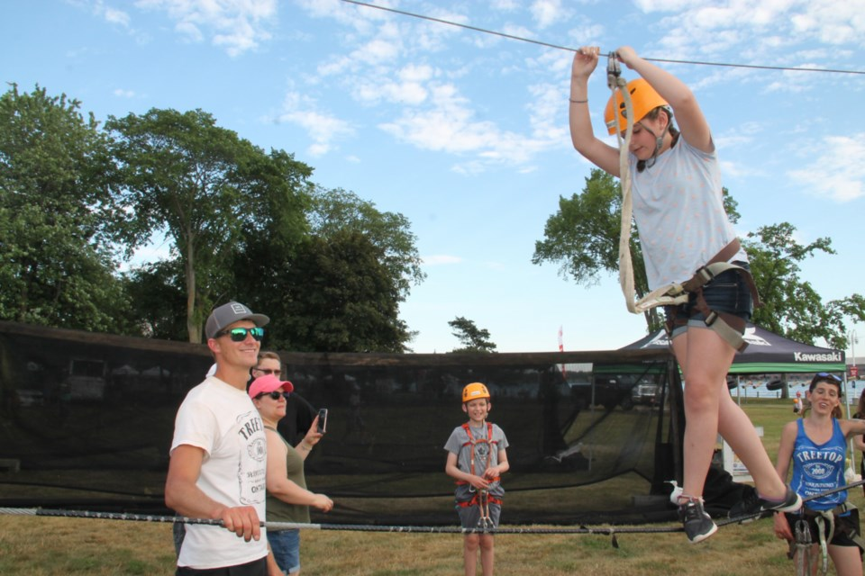 Treetop Adventures was on hand for all ages to enjoy at this year's Rotaryfest, July 19, 2019. Darren Taylor/SooToday