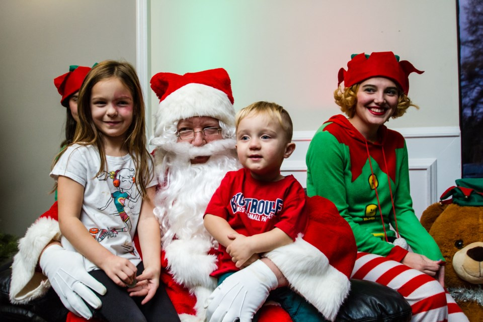A visit from Santa Claus during the 6th annual Toystock Christmas Cheer fundraiser at the Northern Grand Gardens on Sunday, Nov. 26, 2017. Donna Hopper/SooToday