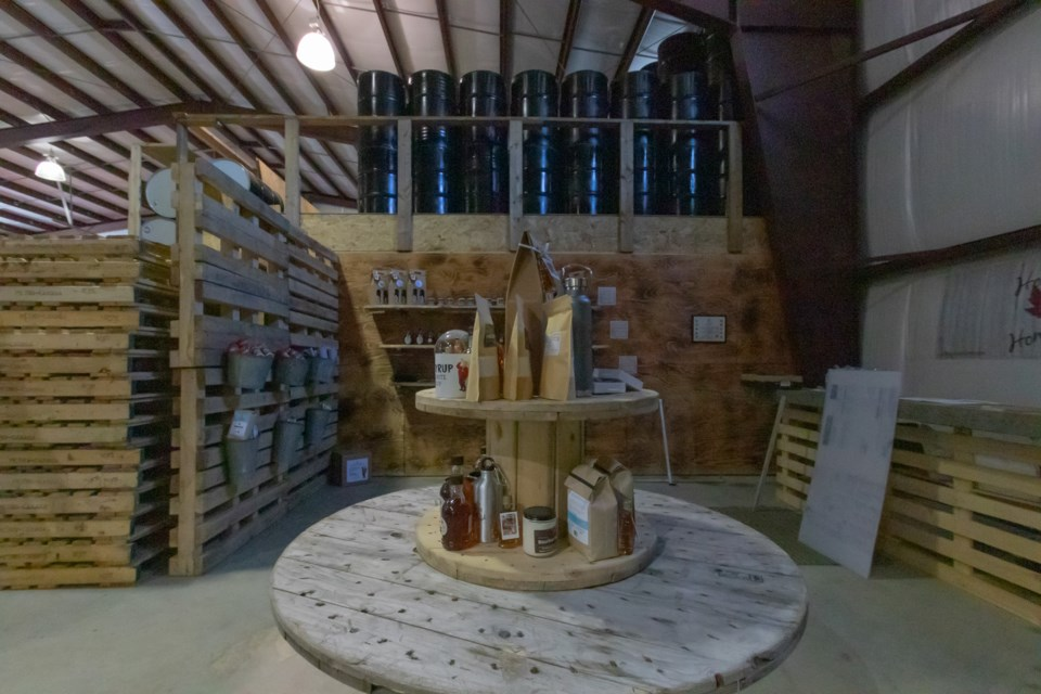 Gift shop inside the production facilities at Hogan's Homestead March 5, 2021.  Violet Aubertin for SooToday