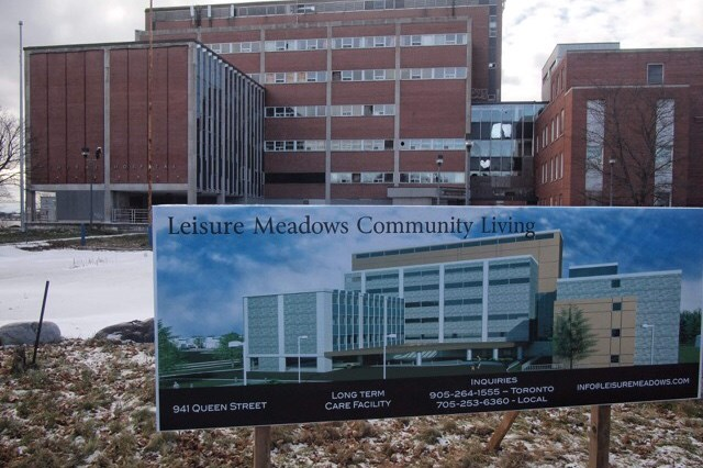 This newly posted billboard promoting Leisure Meadows Community Living Inc.'s hospital redevelopment is drawing four or five telephone enquiries a day. (Michael Purvis/SooToday)