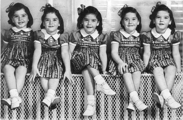 The Dionne Quintuplets captivated the world's attention through an economic depression into World War II  (Nov. 11, 1938 photo)