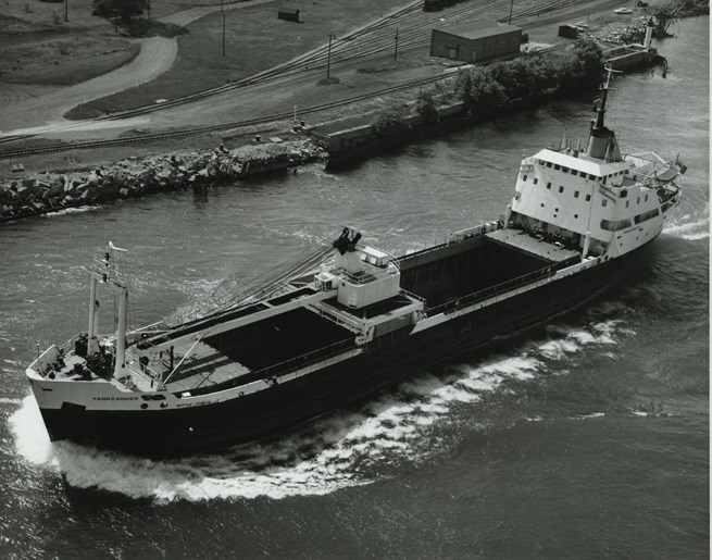 The second ship to bear the name Yankcanuck was christened on April 27, 1963. Sault Ste. Marie Public Library archive