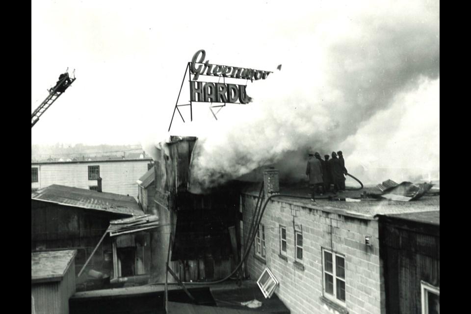 Greenwood Hardware Fire 1954