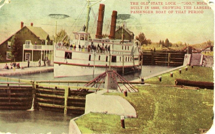 The Sault Canal is pictured in this Sault Ste. Marie Public Library archive image