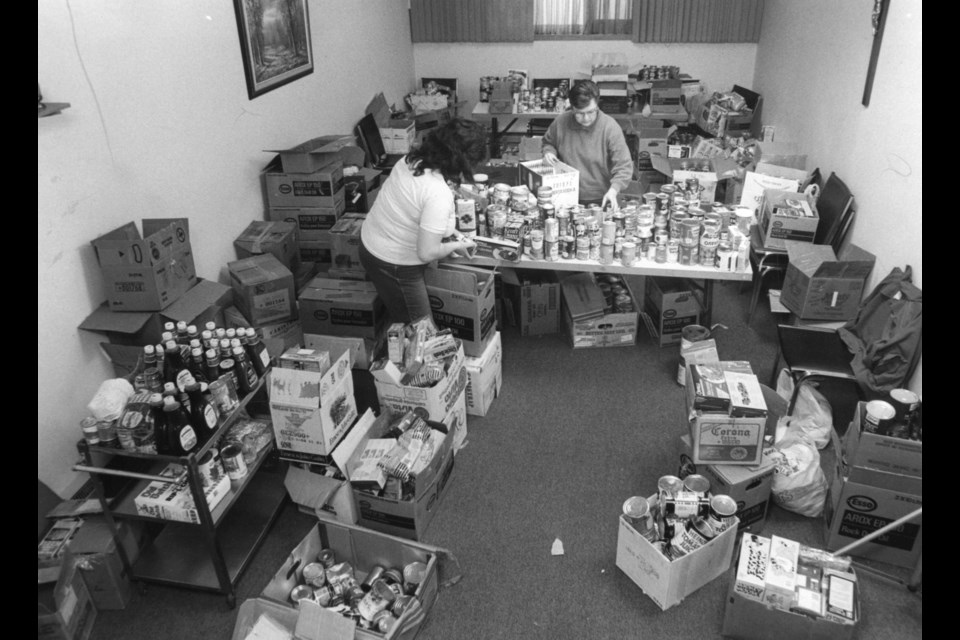 Volunteers at work at the Sault Ste. Marie Soup Kitchen Community Centre is pictured in this Sault Ste. Marie Public Library archive photo
