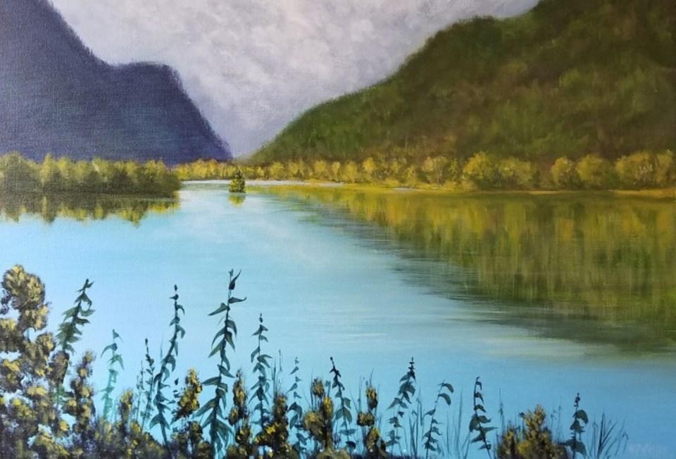 2019-08-20 Warren Peterson painting