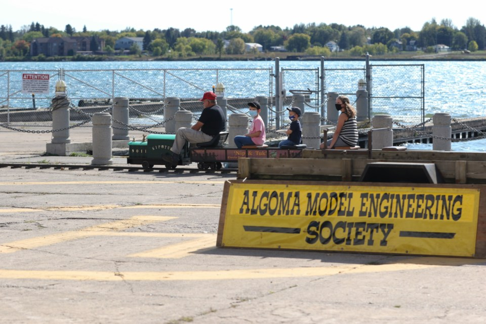 The Algoma Model Engineering Society was taking visitors for rides throughout the weekend.