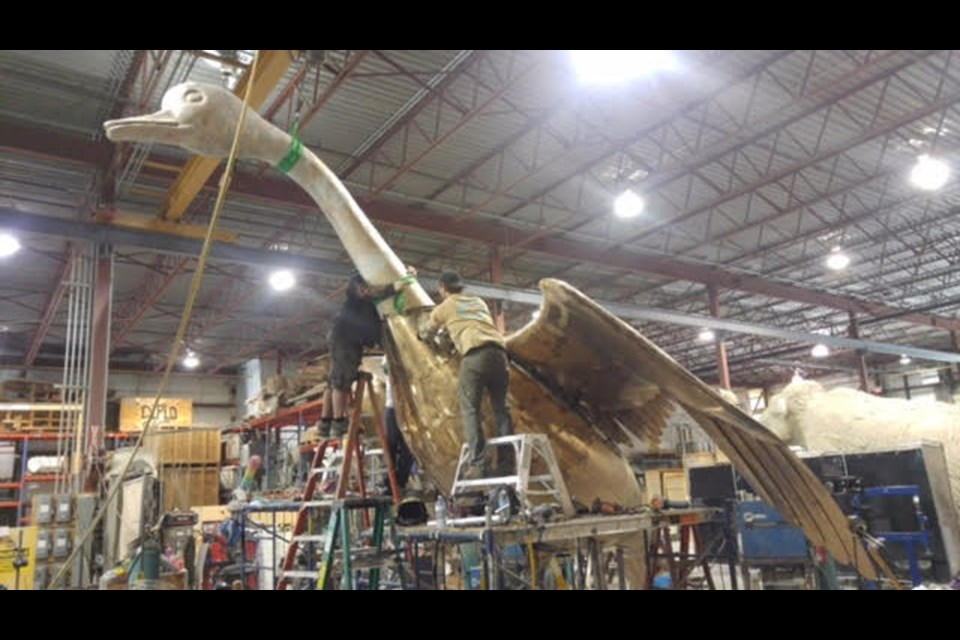 A recent photo of the new version of the Wawa Goose under construction  by Research Casting International in Trenton, Ontario. The new goose is to be painted and then shipped to Wawa where it will be unveiled to the public on July 1, 2017. Image Supplied