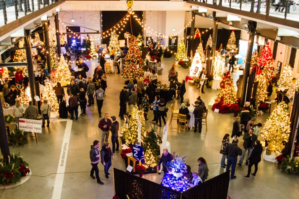 Tony Porco's Machine Shop hosted the Lung Association's annual Festival of Trees in 2016. Donna Hopper/SooToday