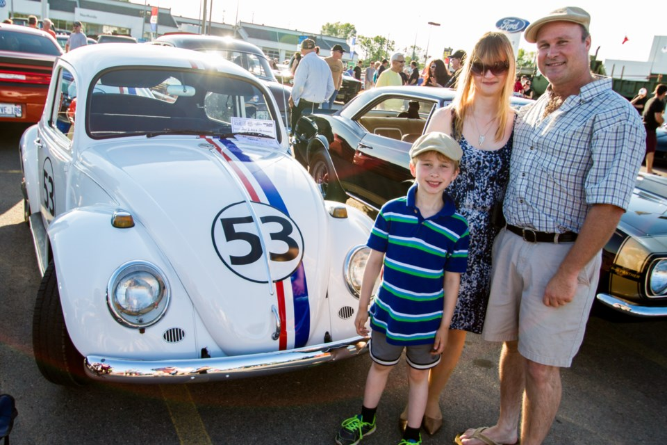 Sean and Angie Pritchard with their 67 VW 'Love Bug' Beetle during the Queen Street Cruise car and bike show at Highland Ford on Friday, June 17, 2016. Donna Hopper/SooToday