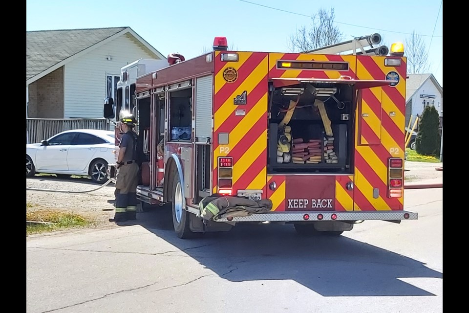 Crews responded to a brush fire on Broadview Drive on Thursday, May 13, 2021