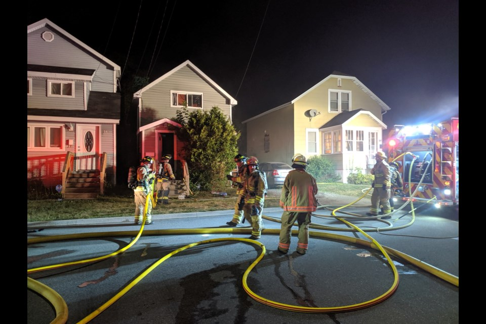 Residents of 60 London Street were displaced when fire broke out in the home around midnight on Monday. Carol Martin/SooToday