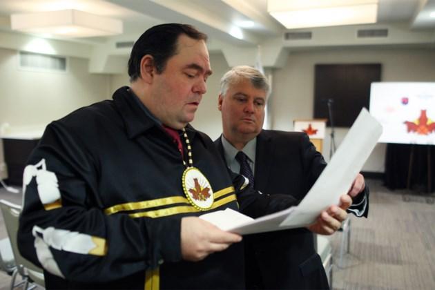 20160119 Missanabie Cree First Nation Chief Jason Gauthier MP Terry Sheehan KA