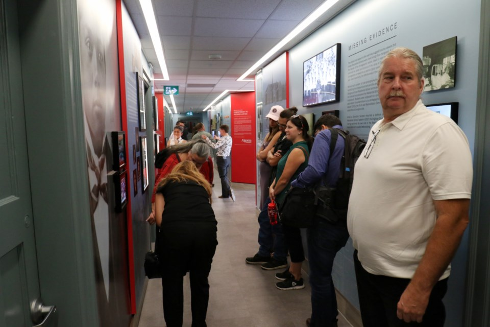 The Reclaiming Shingwauk Hall exhibit was officially unveiled during a ceremony at Algoma University Friday. James Hopkin/SooToday