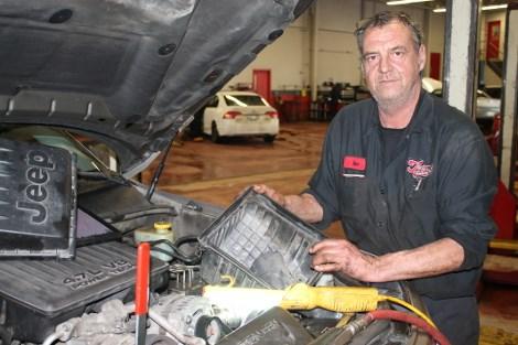 Mechanic Ian Madsen