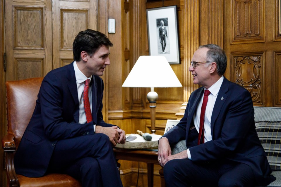 20181128-Rob Oliphant with PM Justin Trudeau photo supplied