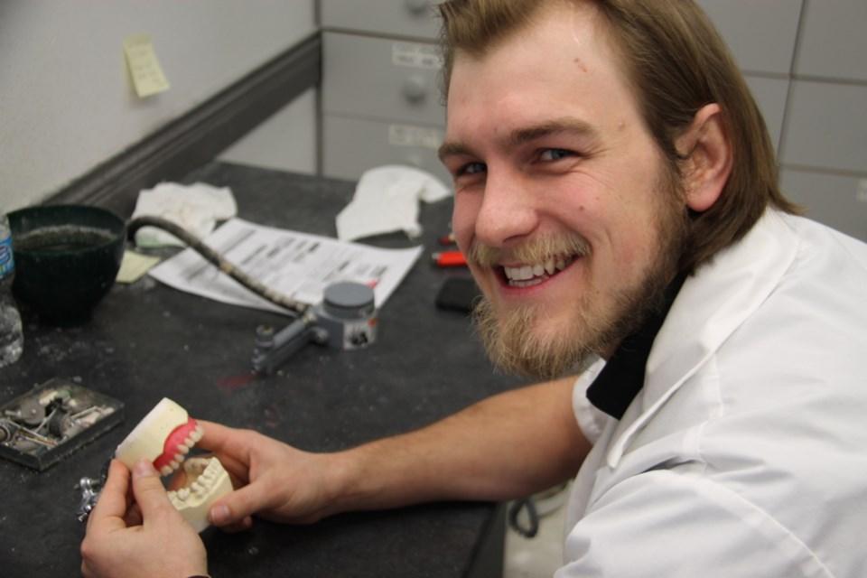 Tim Berkenbosch, Sault denturist, at work at the Berkenbosch Denture Clinic, March 16, 2018. Darren Taylor/SooToday