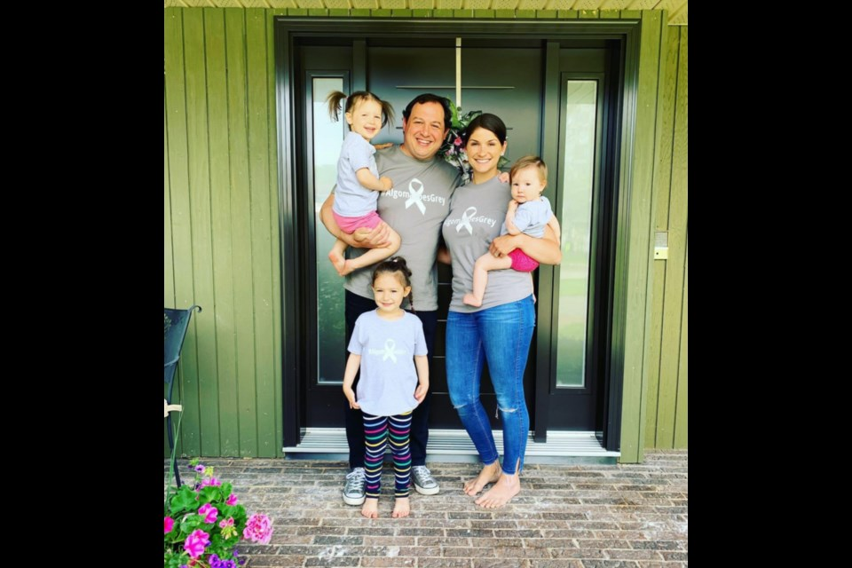 Kyleigh Provenzano with husband Sault Mayor Christian Provenzano and daughters Chloe, Isla and Alice. Photo supplied