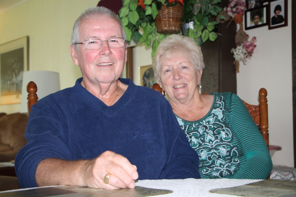 Jim Davey, with wife Shirley, is enjoying life after undergoing an ultrasound procedure which has relieved him from tremors he has suffered from for most of his life. Darren Taylor/SooToday