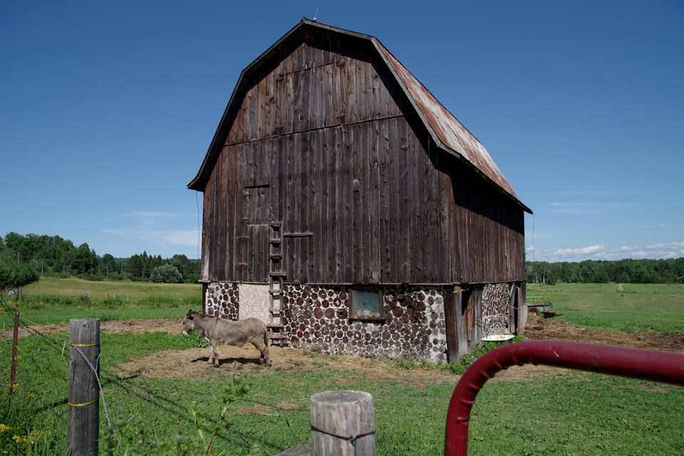 A fundraising effort is underway to help preserve this historic cordwood barn on Old Garden River Road. Mike Purvis/SooToday
