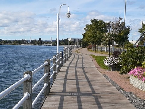 The boardwalk is one of the most iconic areas of Sault Ste. Marie. It runs along the St. Mary's River and across from Sault, Michigan, it represents the city's international aspect. It is also a popular tourist attraction and date spot for locals. Mike Hermida for SooToday