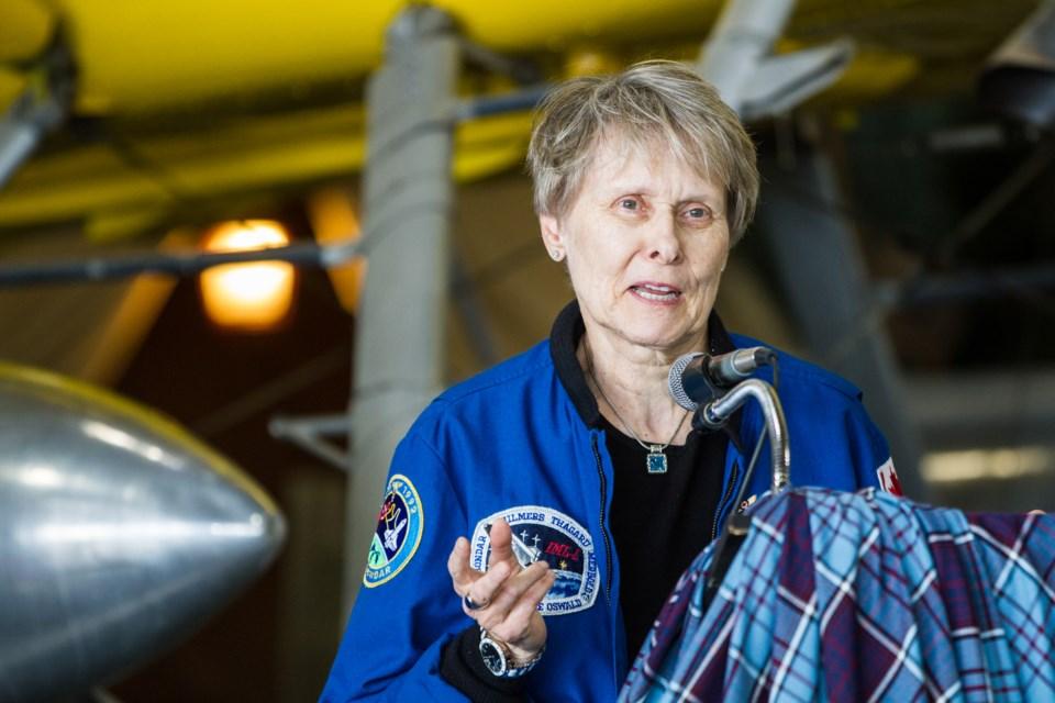 Dr. Bondar at the launch of the Dr. Roberta Bondar Air Cadet Training Program at the Canadian Bushplane Heritage Centre on Friday, May 13, 2016. Donna Hopper/SooToday