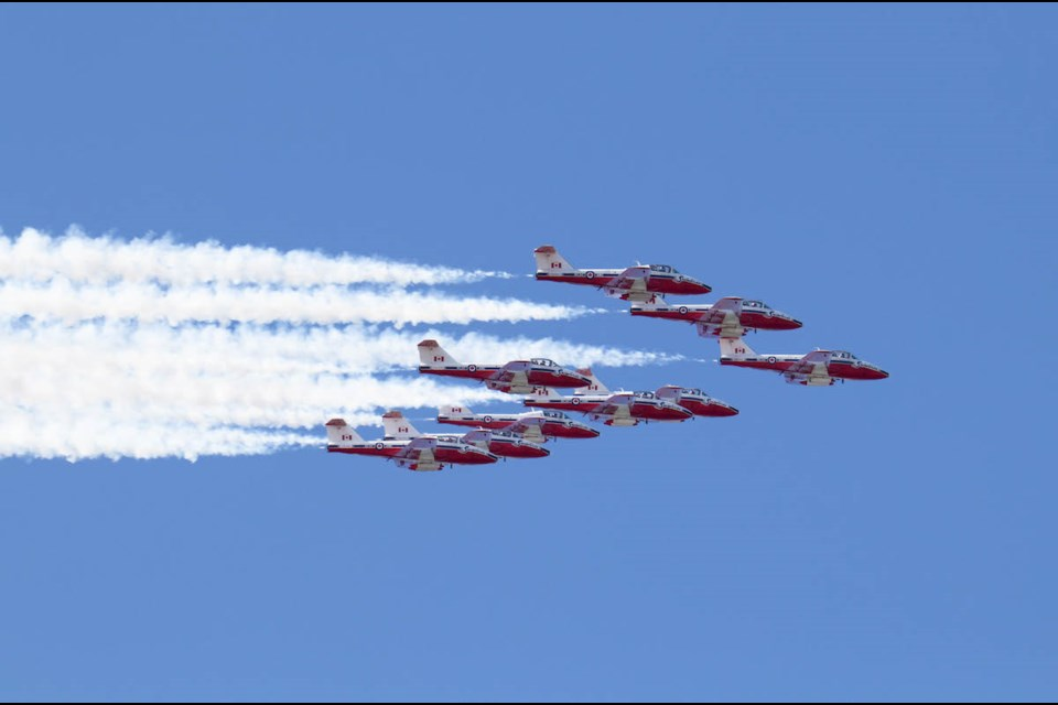 Snowbirds 'Operation Inspiration' in Sault Ste. Marie on Monday, May 11, 2020. Photo submitted by Chris Klemm