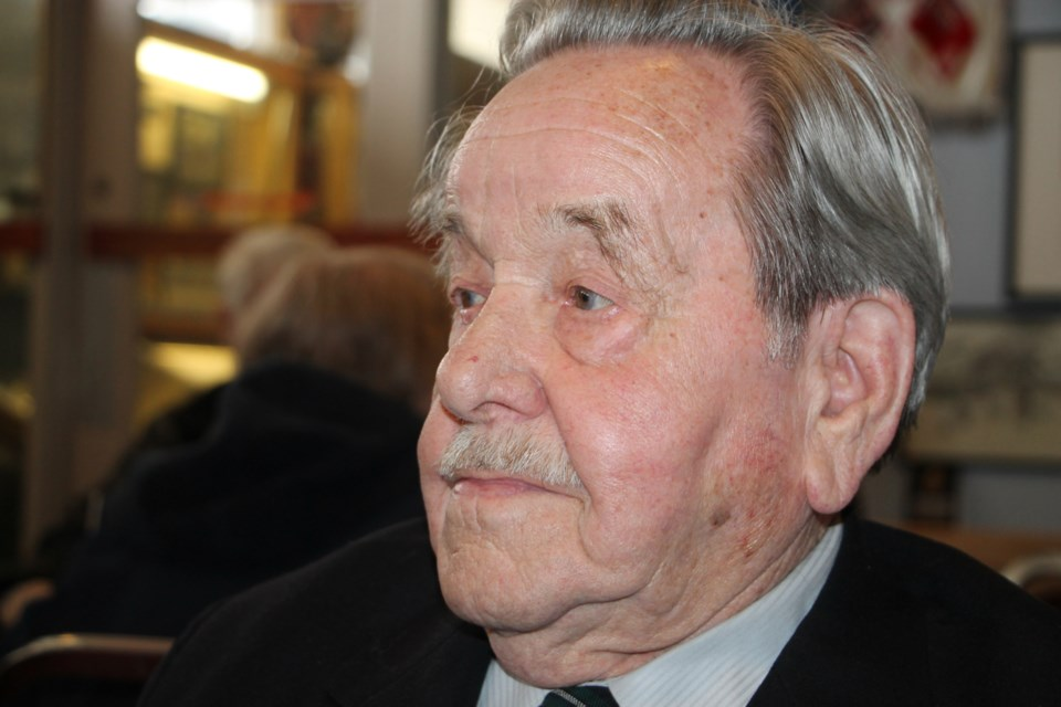 Laurie MacKenzie served on HMCS Sault Ste. Marie in World War II. Darren Taylor/SooToday
