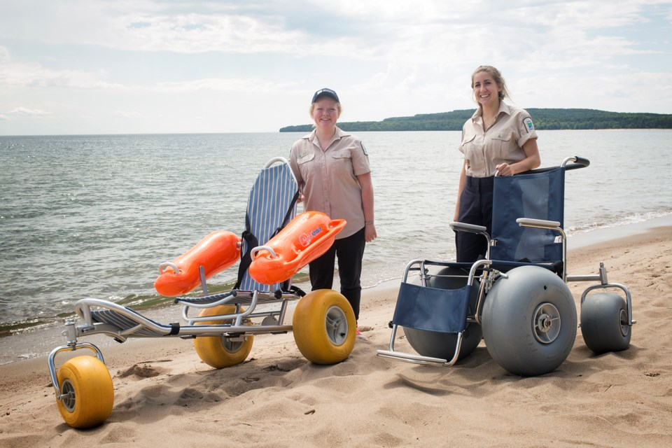 20170715 Pancake Bay Provincial Park Beach Wheelchairs KA
