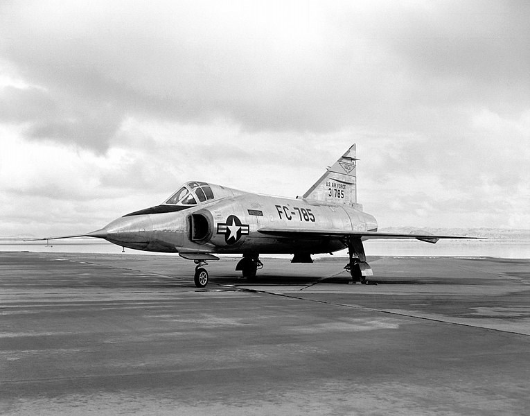 Convair F-102 fighter and interceptor, what USAF Pilot 1st Lt. Gaylord Treu would have flown. NASA image