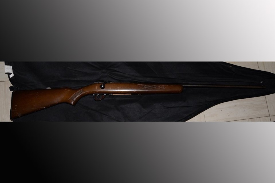 Police seized a firearm during a search of a Cunningham Road residence on April 10, 2021