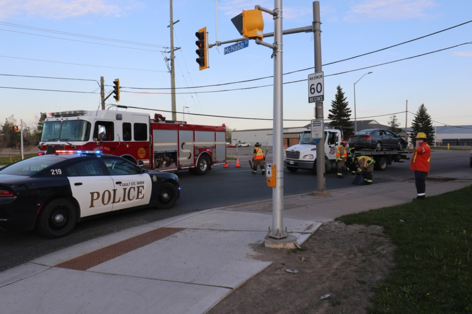 Police, fire and PUC responded to a motor vehicle collision at the intersection of Black Road and McNabb Street Friday evening.