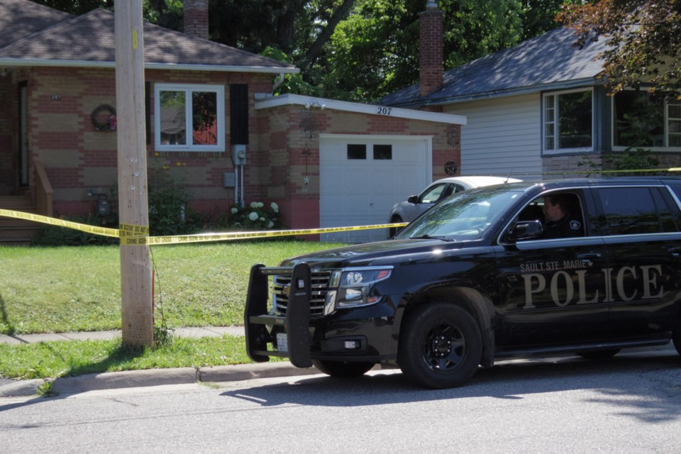 Sault Ste. Marie Police Service, Ontario Provincial Police and Batchewana First Nation Police Service attended a residence on McMeeken Street Friday. The scene has been taped off.