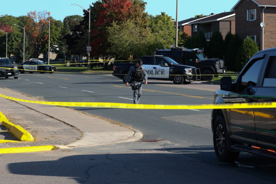 Sault Ste. Marie Police Service has secured the scene on Pine Street where a 19-year-old was shot and killed by police early Sunday. An officer has been taken to hospital with serious injuries as a result of the incident, which is being investigated by Ontario's Special Investigations Unit.