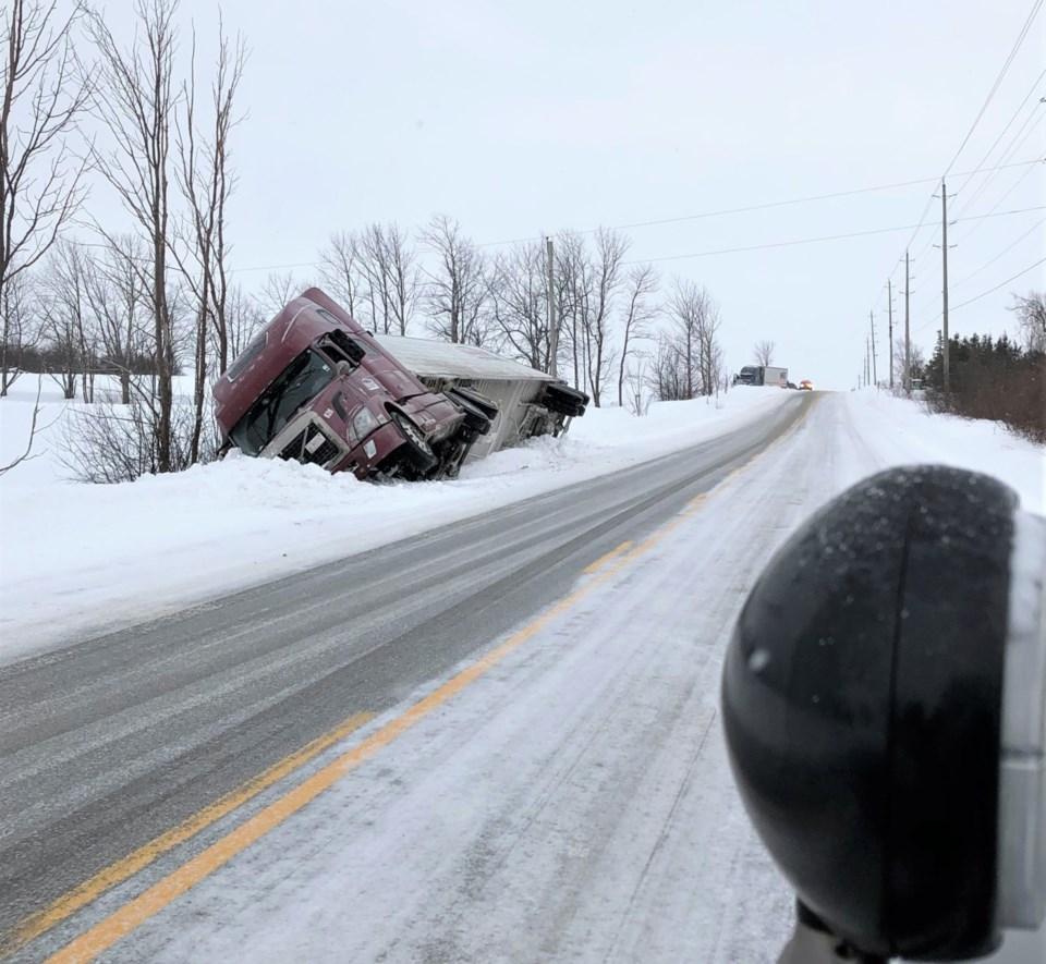 trucks in ditch (1)
