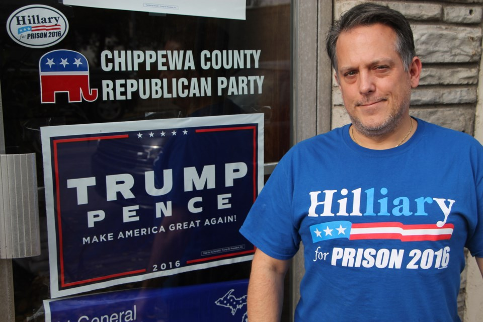 Anthony Stackpoole, Republican Party of Chippewa County chair, Nov. 8, 2016. Darren Taylor/SooToday