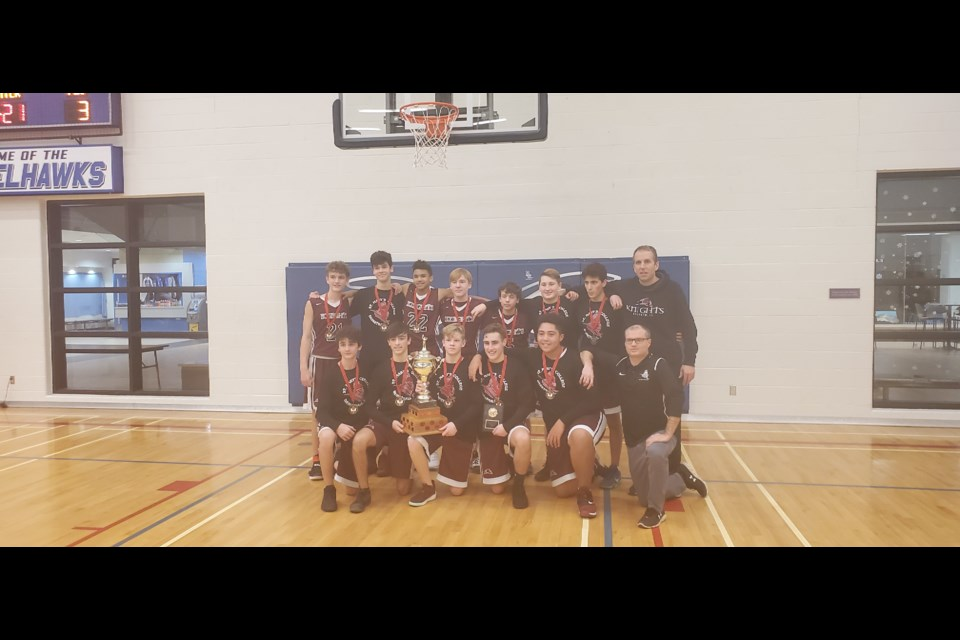 Provided photo shows the St. Marys team, jr. championship winners of the 2019 Eric Nystedt Memorial Basketball Tournament