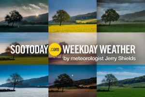 <b>Workweek Outlook:</b> Fall starts with wet weather and seasonal temperatures
